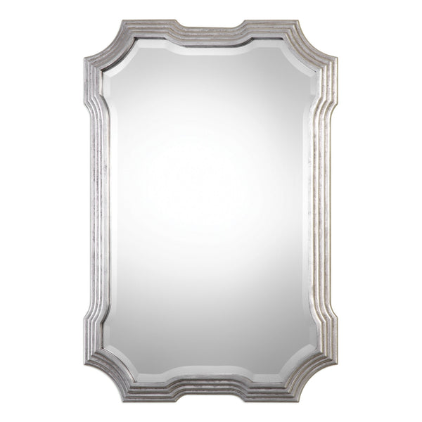 Uttermost Halima Silver Step Mirror 09178 - BathVault