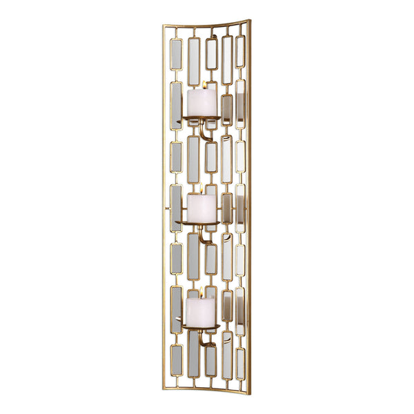 Uttermost Loire Mirrored Wall Sconce 04045 - BathVault
