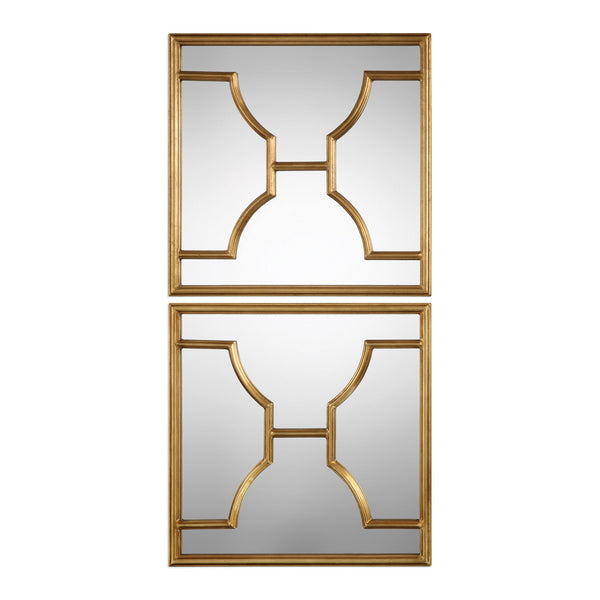 Uttermost Misa Gold Square Mirrors S/2 09268 - BathVault