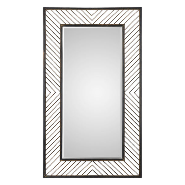 Uttermost Karel Chevron Mirror 09245 - BathVault