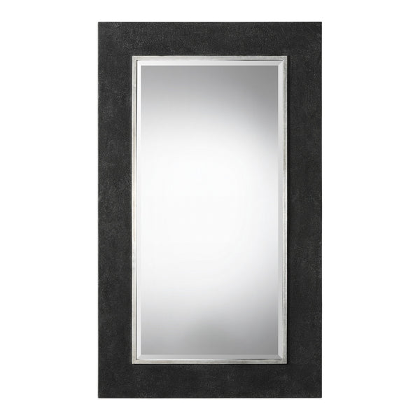 Uttermost Ferran Textured Black Mirror 09249 - BathVault