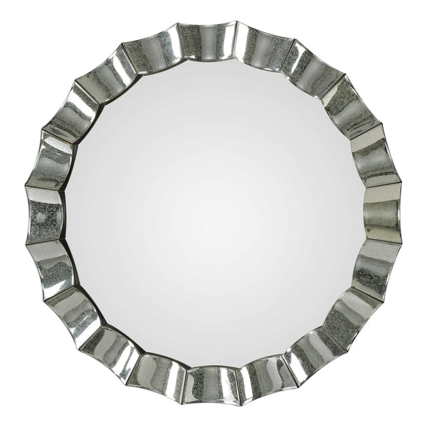 Uttermost Sabino Scalloped Round Mirror 09334 - BathVault