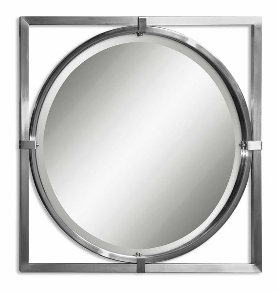 Uttermost Kagami Brushed Nickel Mirror 01053 B - BathVault