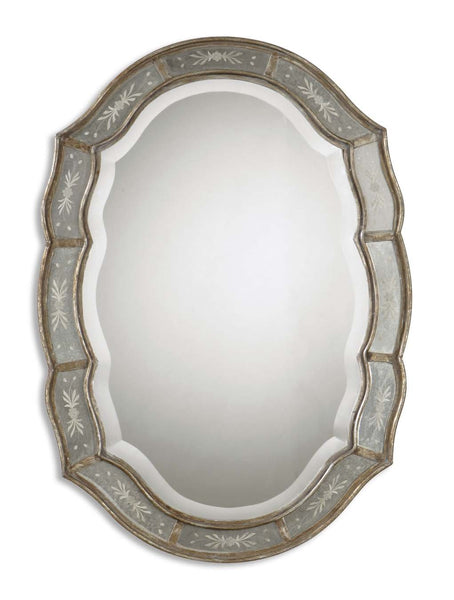 Uttermost Fifi Etched Antique Gold Mirror 12530 B - BathVault