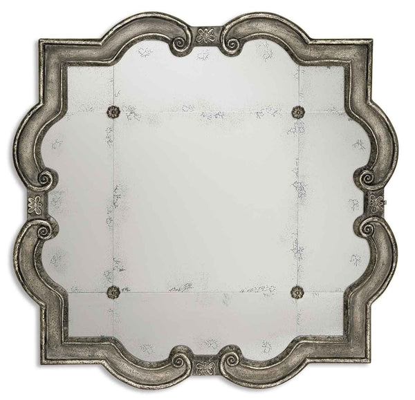 Uttermost Prisca Distressed Silver Mirror 12557 P - BathVault