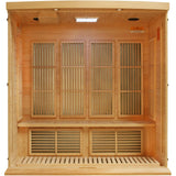 Golden Designs 3 Person Hemlock Maxxus LEMF FAR Infrared Sauna MX-K406-01 - BathVault