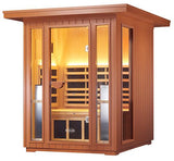 2 Person Clearlight Sanctuary Outdoor Full Spectrum Infared Sauna - BathVault