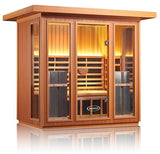 Clearlight Sanctuary 5 Person Outdoor Full Spectrum Infrared Sauna - BathVault