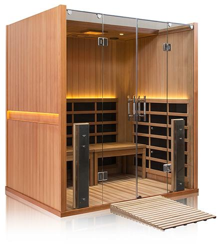 4 Person ADA Compliant Full Spectrum Infrared Sauna - BathVault