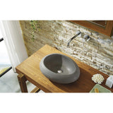 Virtu USA Athena Bathroom Vessel Sink in Andesite Granite VST-2073-BAS - BathVault
