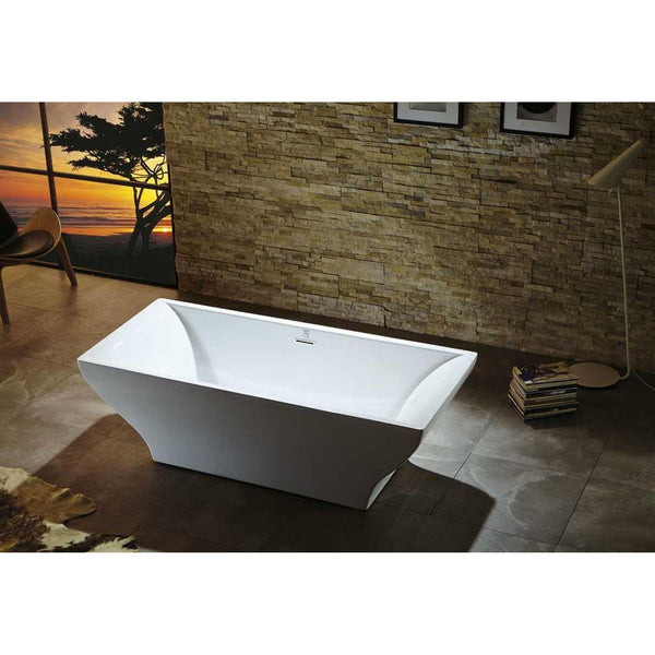 "Virtu USA Serenity VTU-1271 71"" x 31.5""  Freestanding Soaking Bath Tub - BathVault"