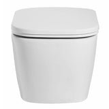 Eago Elongated Toilet Bowl Only in White - BathVault