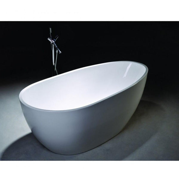 "Legion Furniture 68"" White Freestanding Acrylic Egg Shaped Tub - WE6515 - BathVault"