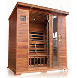 Sunray 4 Person Cedar HL400K Sequioa Infrared Sauna - BathVault