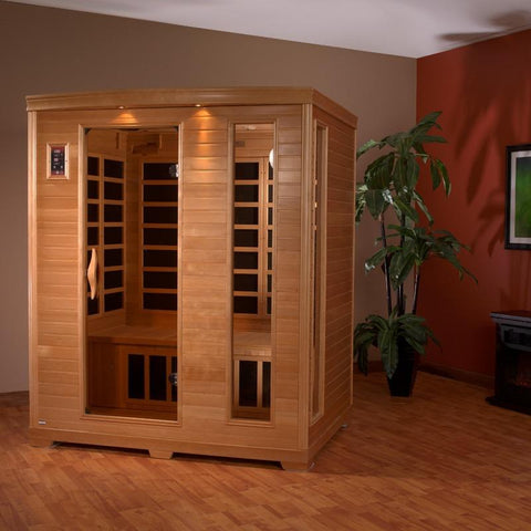 Golden Designs 3 Person Low EMF Far Infrared Sauna GDI-6444-01 - BathVault