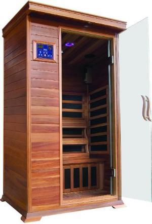 Sunray 1 Person Cedar HL100K Sedona Infrared Sauna - BathVault