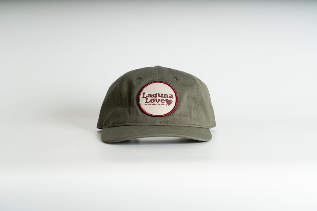 Circle Patch Dad Hat Olive