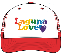 Rainbow Red Trucker Hat