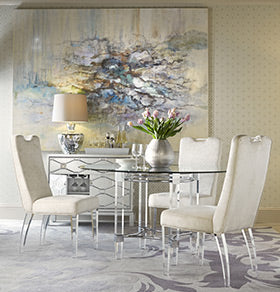 Bassett Mirror Company's Cristal Dining Room collection
