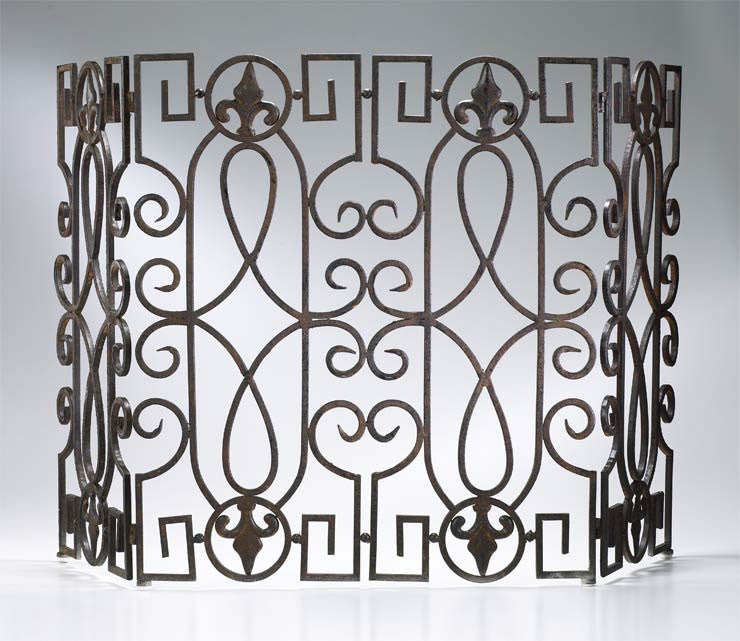 Wrought Iron Fire Screen 00769 by Cyan Design
