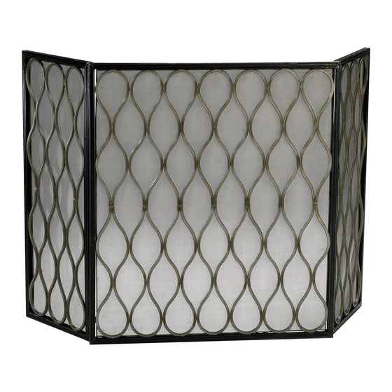 Gold Mesh Fire Screen 02003 by Cyan Design