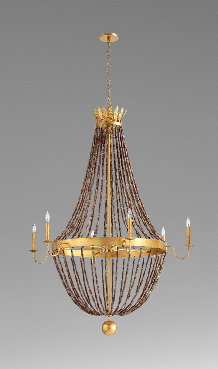 Alessia six light chandelier 06338 by cyan design plum 28 alessia six light chandelier 06338 by cyan design aloadofball Images