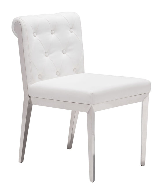 Aris Dining Chair White Set of 2
