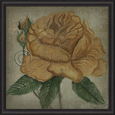 10092 BC Yellow Rose Framed Art