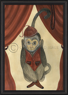 10097 BCBL Hear No Evil II Framed Art
