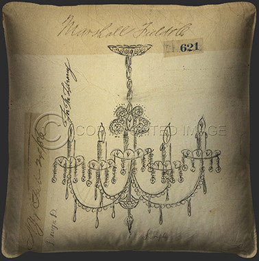 10107 Chandelier For The Library Pillow