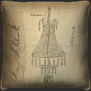10108 Chandelier For The Dining Room Pillow