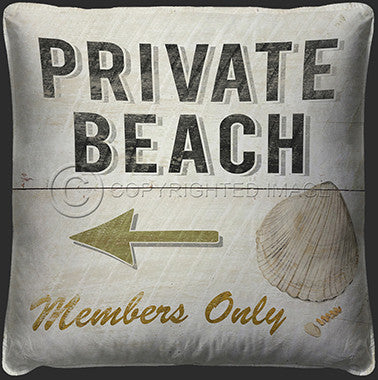 10117 Private Beach Pillow