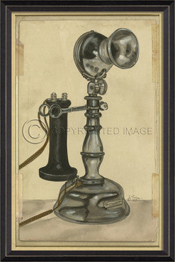 10141 BC Vintage Phone 1 Framed Art