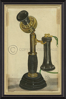 10146 BC Vintage Phone 6 Framed Art