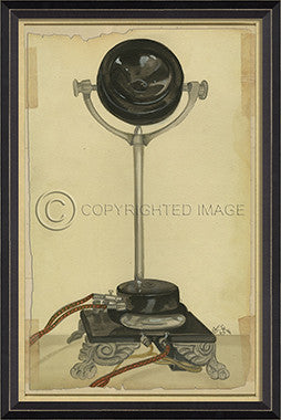 10149 BC Vintage Phone 9 Framed Art