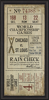 10228 BCBL Chicago Vs St Louis Framed Art