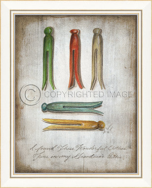 10257 KI Clothes Pins Colorful 2013 Framed Art