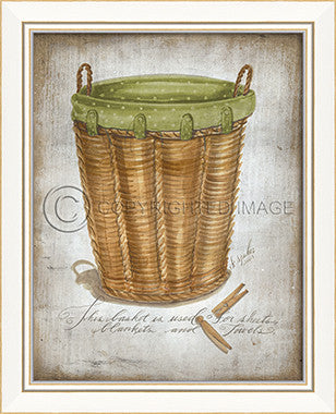 10264 KI Laundry Basket Towels 2013 Framed Art