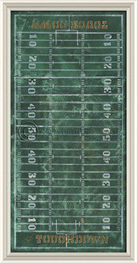 10272 WCWL Football Field Framed Art