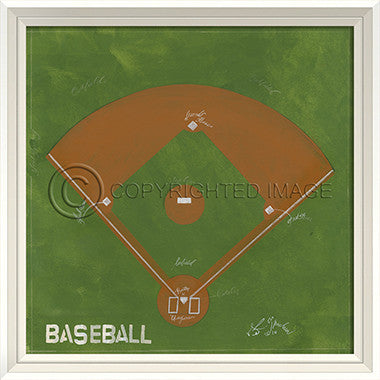 10273 WCWL Baseball Field Framed Art