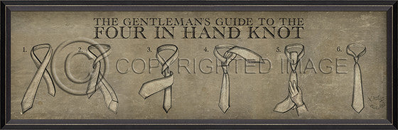 10285 BC Four in Hand Knot Framed Art