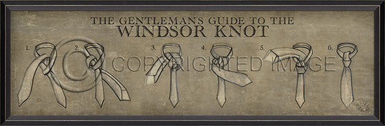 10286 BC Windsor Knot Framed Art