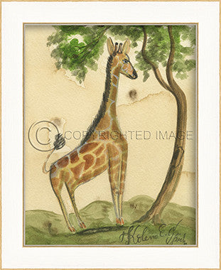 10290 LA Giraffe Framed Art