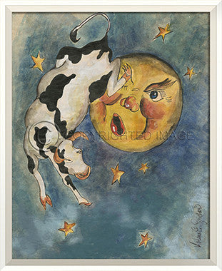 10297 WC Cow Over the Moon Framed Art