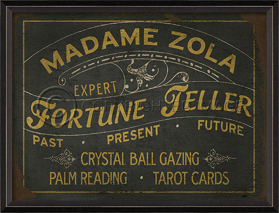 10333 BC Madame Zola Fortune Teller Sign Framed Art