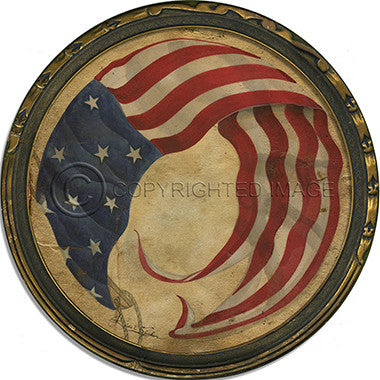 10365 Flag 12 Framed Art