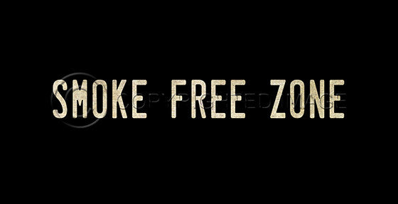10371 Smoke Free Zone Sign Framed Art