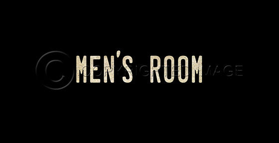 10379 Men's Room Sign Framed Art