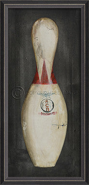 10409 BC Bowling Pin 5 Framed Art