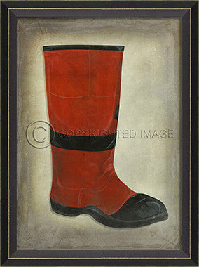 10457 BC Red Boot Framed Art
